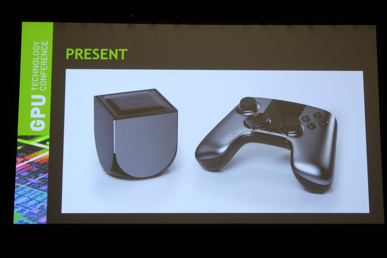 The Ouya console and controller, which should begin shipping to Kickstarter backers this month.