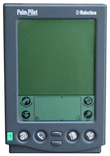 The first Palm Pilot.