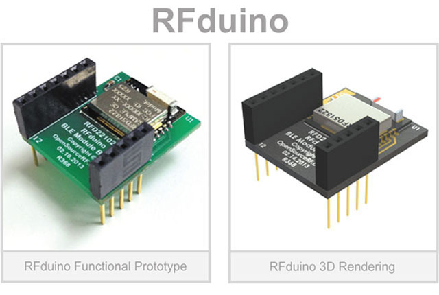 "The RFduino ""maker"" allows hardware hackers to build devices with Arduino code and Bluetooth wireless communications."