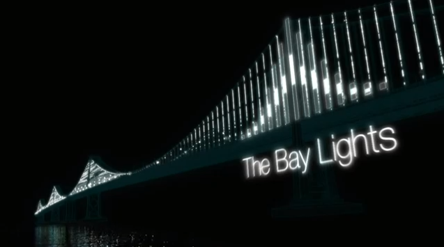 This still from an animation shows how the lights will look on the bridge-based art installation.