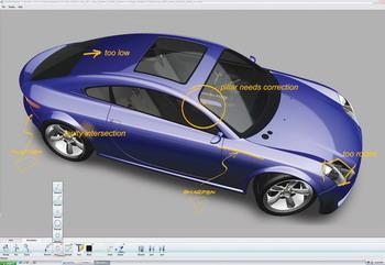 PortfolioWall memungkinkan desainer untuk menampilkan model 3D skala penuh.