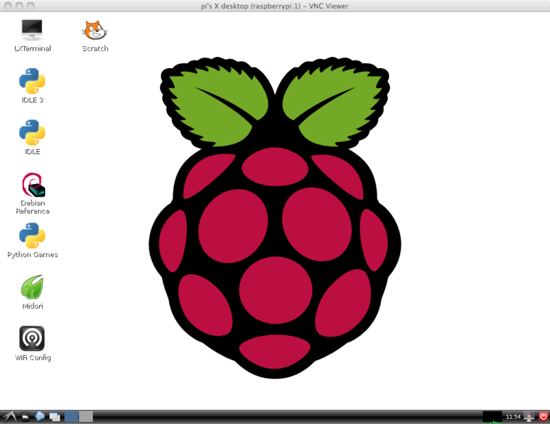 Raspbian's default graphical user interface.