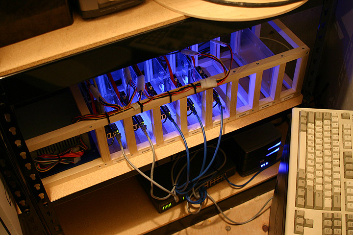 The cluster would eventually include eight single-board ARM computers.
