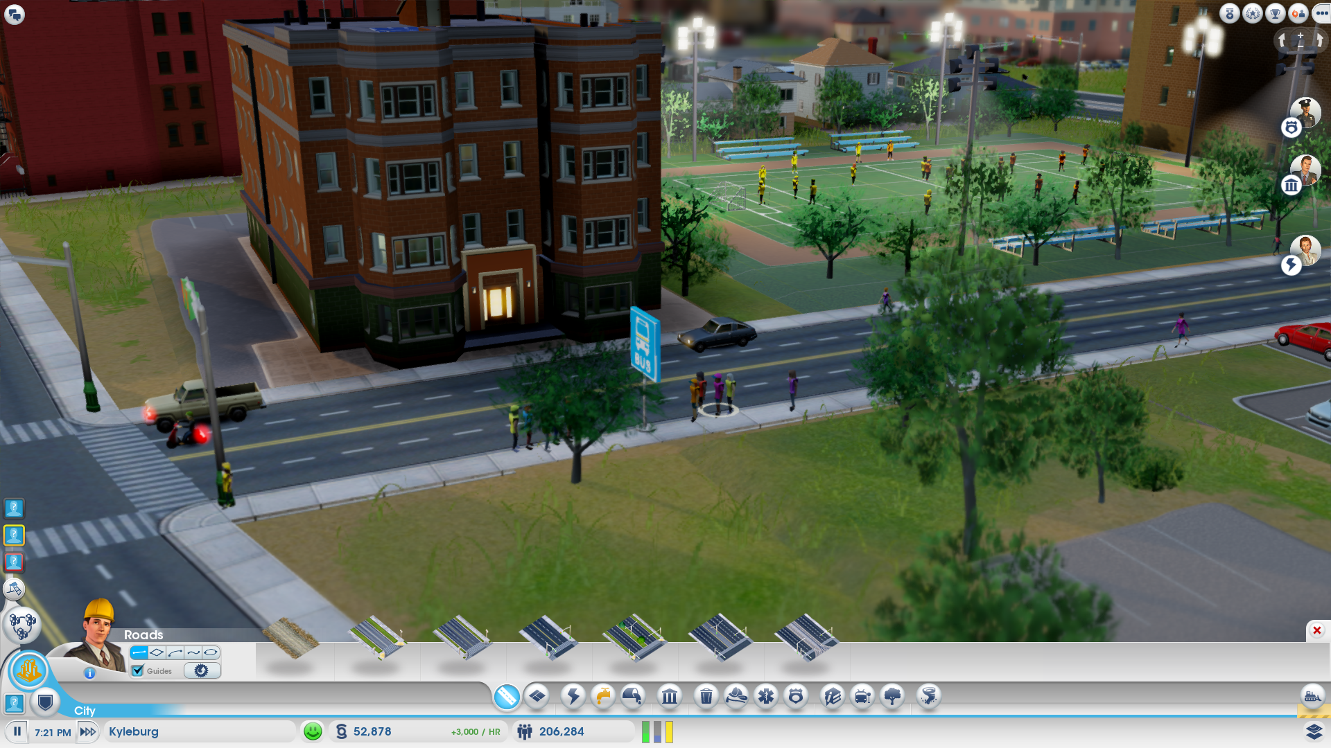 If you want to watch people waiting for the bus and playing soccer in the background, have we got a game for you!