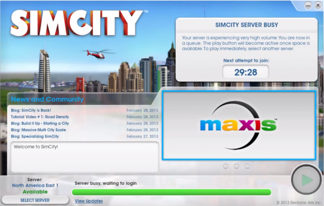 Clogged streets: SimCity launch plagued by server problems