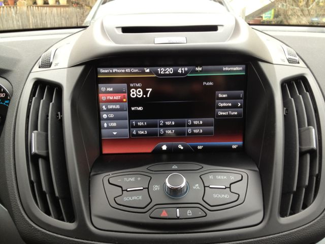 The Media screen, from which we select our source of entertainment. There are three screens each of presets for AM, FM, and Sirius XM. Navigating presets while driving could end badly—stick to the voice commands and the steering wheel buttons.