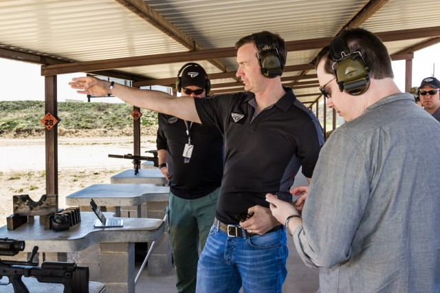 TrackingPoint VP Bret Boyd during our range familiarization talk.