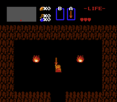 The sword-wielding Princess Zelda, equipped to save the mincing Link.