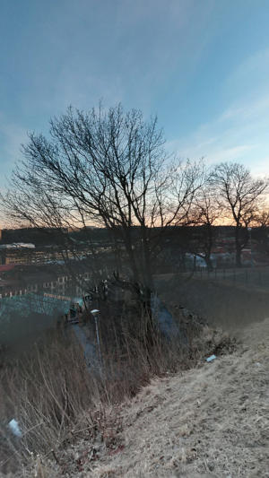You can pan over in each PhotoSphere to see what else is in the scenery.
