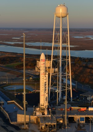The Antares rocket on the pad at MARS.