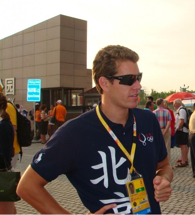 Cameron Winklevoss at 2008 Beijing Olympics.