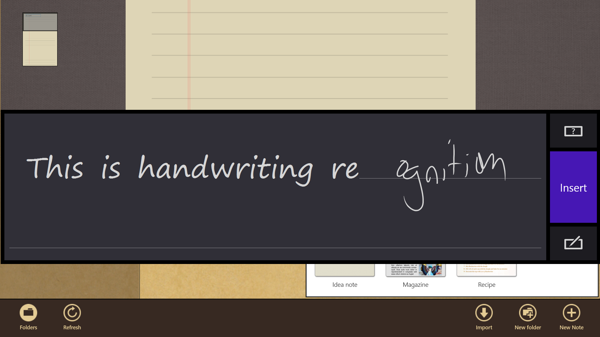 Handwriting recognition in the S Note app is good, even with my scrawl—but that's more a function of Windows 8 than the app itself.