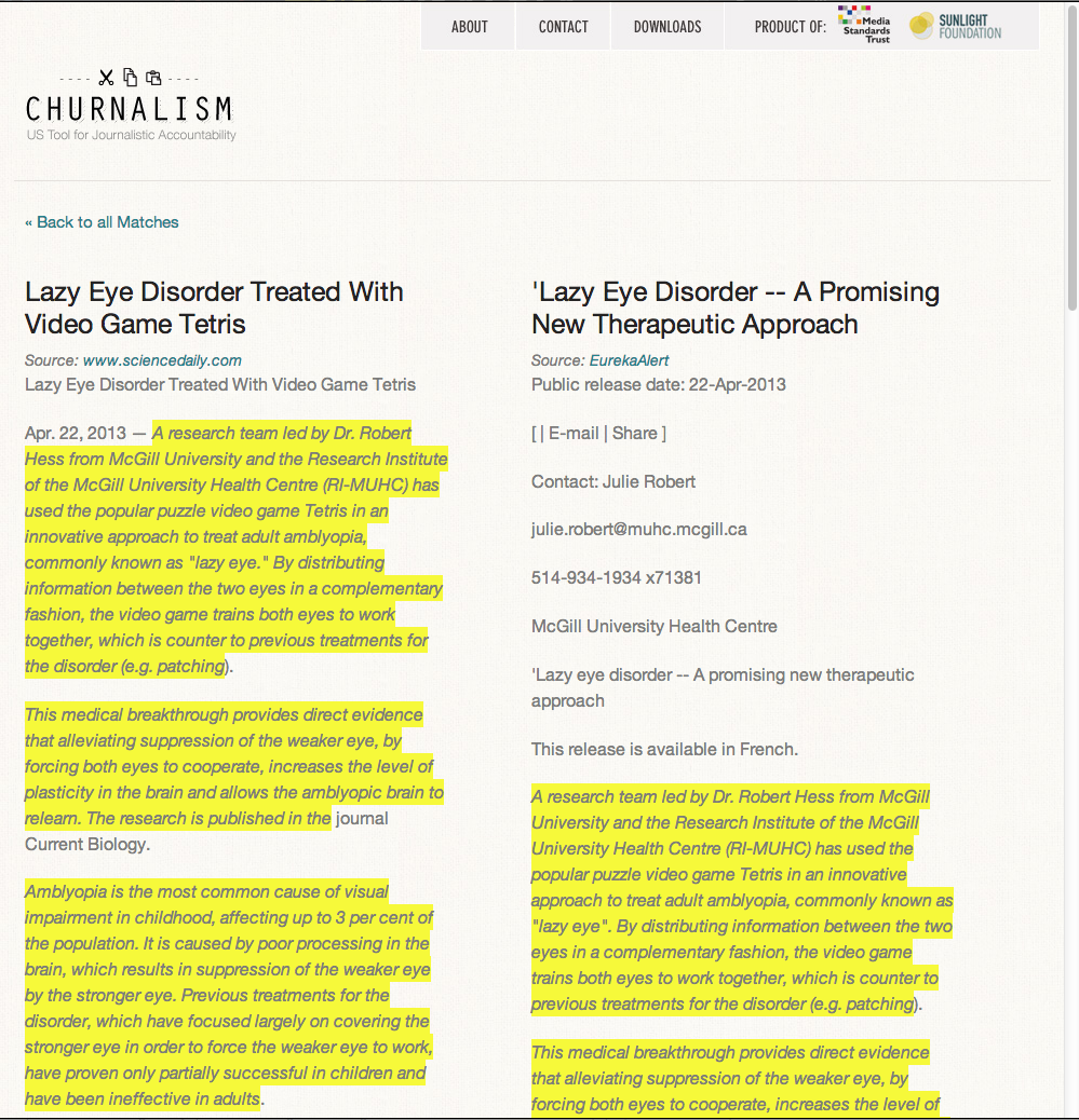"""Churnalism"" tracker catches journalists copying press releases, Wikipedia"