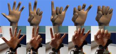 With Digits, each hand gesture is almost perfectly mimicked by the software.