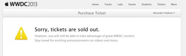 Apple's WWDC 2013 tickets sold out in a record two minutes (or less)