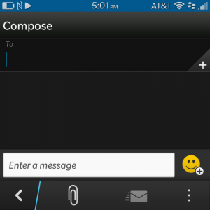 ...are black in BlackBerry 10.1. This is supposedly being done to conserve battery life.