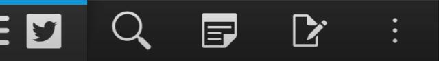 The same, shorter navigation bar on the Q10 lacks labels.