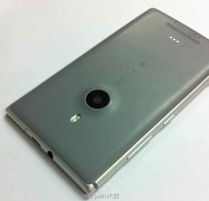 "The back of the ""Catwalk"" phone shows a slight camera bump not found on the fatter Lumia 920."