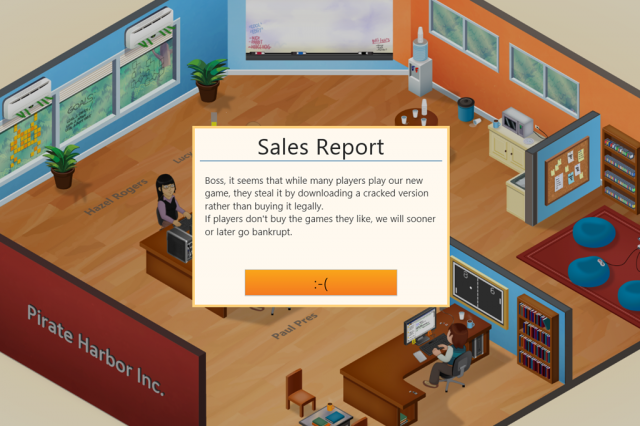 Game Dev Tycoon developers give pirates a taste of their own medicine