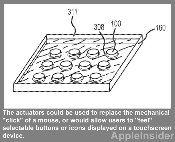 The patent filed on Apple's behalf for haptic touch.