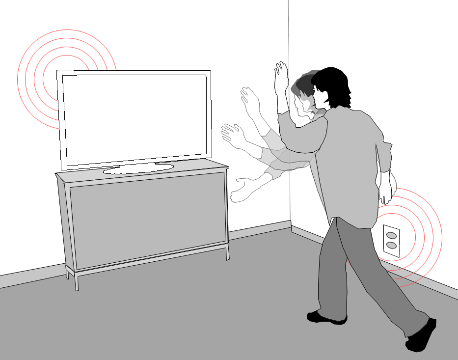 The Humantenna uses surrounding electric waves to identify the actions and location of a human body.