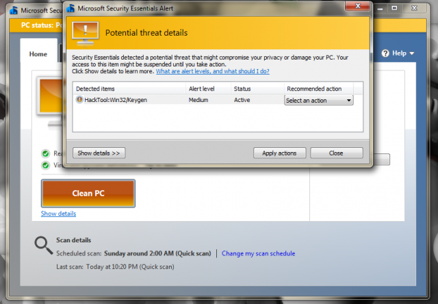 Microsoft's least favorite type of file.