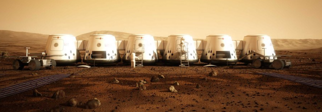 How Bas Lansdorp and the rest of the Mars One team imagine the first human colony on Mars will look in 2023.