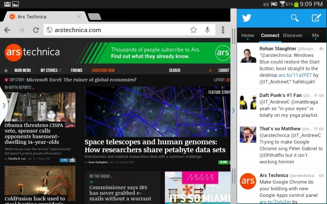The Note software's multitasking mode has gotten much better since the last time we looked at it.