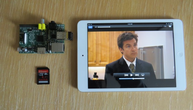Raspberry Pi + iPad mini + AirPlay = home entertainment heaven.