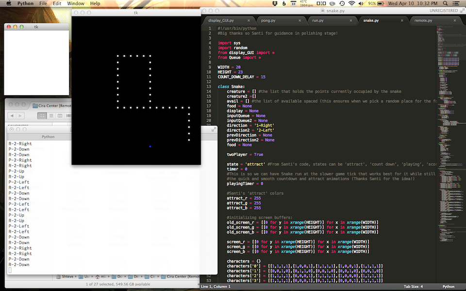 The team has already coded games of Snake and Space Invaders.