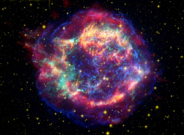 Spectral analysis indicates that silica is present in this supernova remnant, Cassiopeia A.