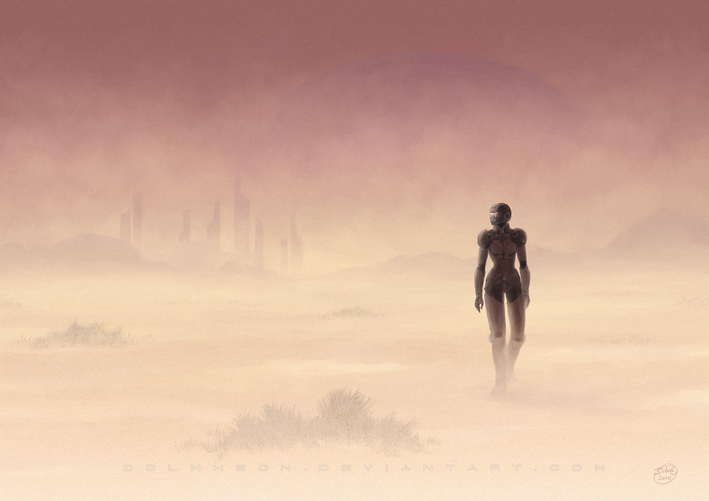 "No one can be Shepard alone—not even Shepard. Image is ""Wanderin'"" by DeviantArt user Dolmheon."