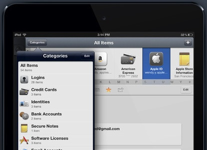 1Password for iPad.