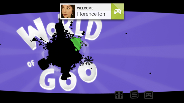 Google Play's game services welcome you as you launch a game that features its APIs.
