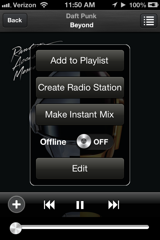 Create a radio station from any song...