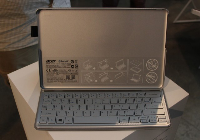 The dock without the tablet in it. The keyboard, unfortunately, appears to be the same one used in the Aspire S7.