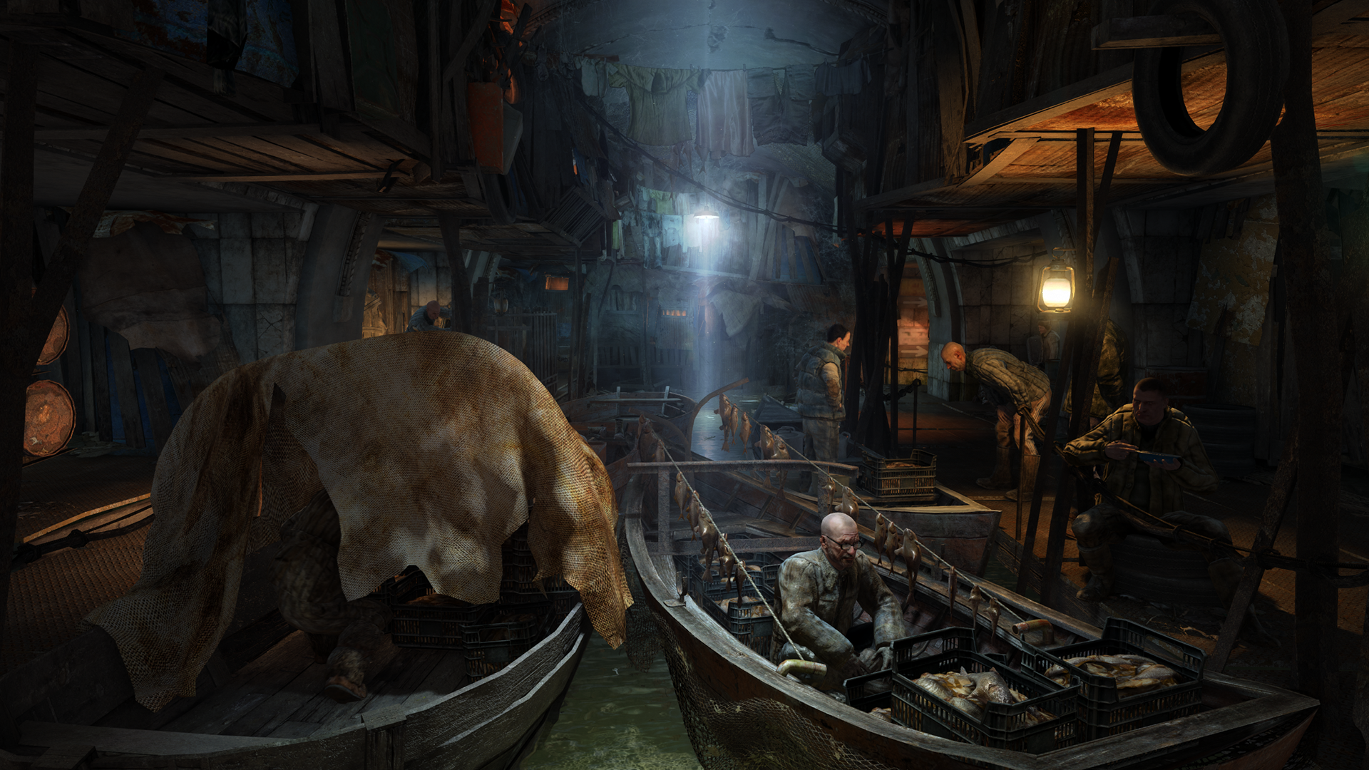 "<em>Metro: Last Light</em> has no shortage of chatty denizens, but this dour fisherman isn't one of them. Nothing ""fresh"" about these fish."