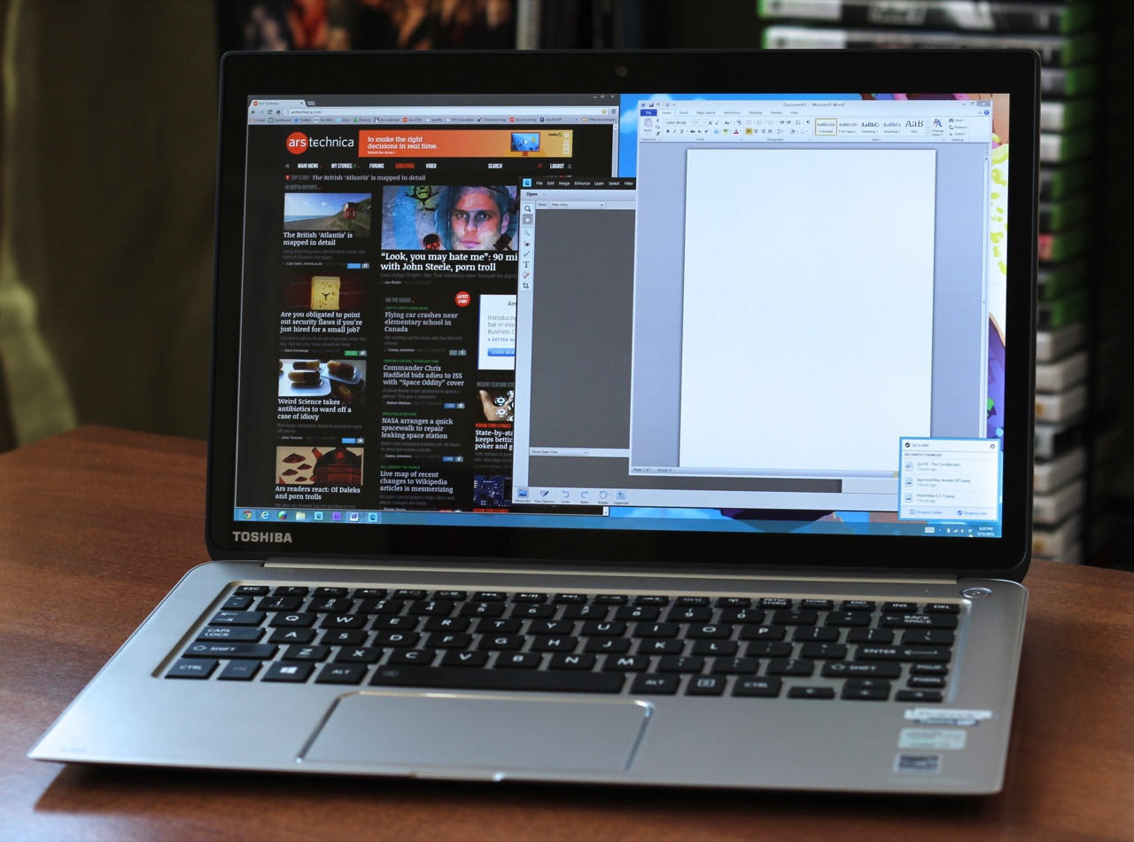 You can run the Kirabook at native resolution with no scaling, but we wouldn't recommend it.