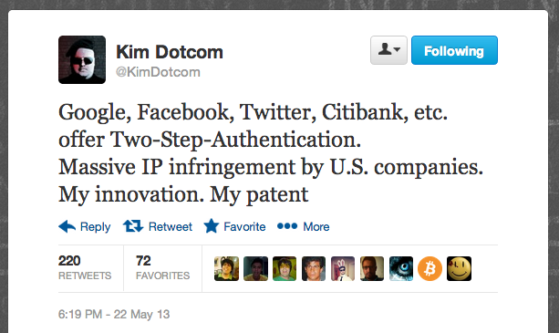 Kim Dotcom claims he invented two-factor authentication—but he ...