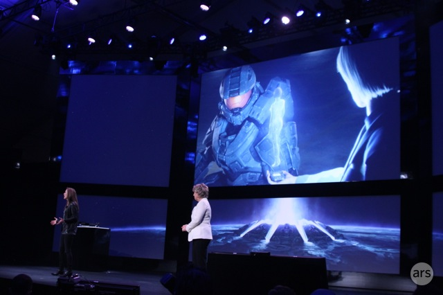 Little was shown of the upcoming series, but Master Chief will be live on small screens soon.