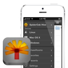 SpiderOak's updated iOS and Android apps.