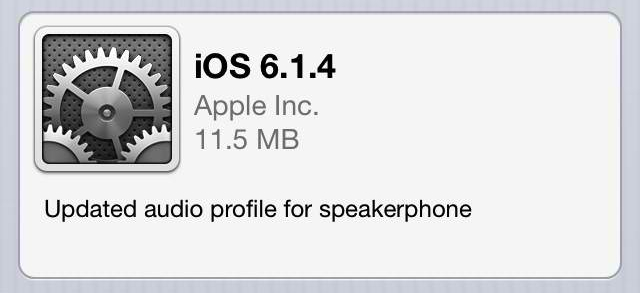 iPhone 5 users get an updated audio profile via iOS 6.1.4