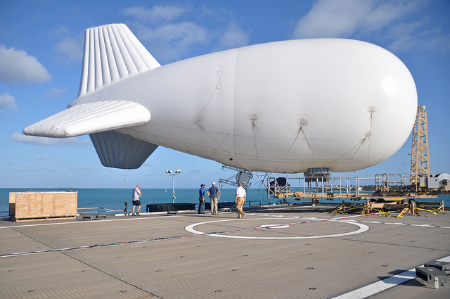 A tethered aerostat at Naval Air Station Key West.