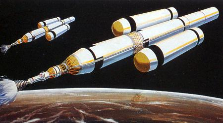 Artist's conception of the 1969 Von Braun Mars Expedition.