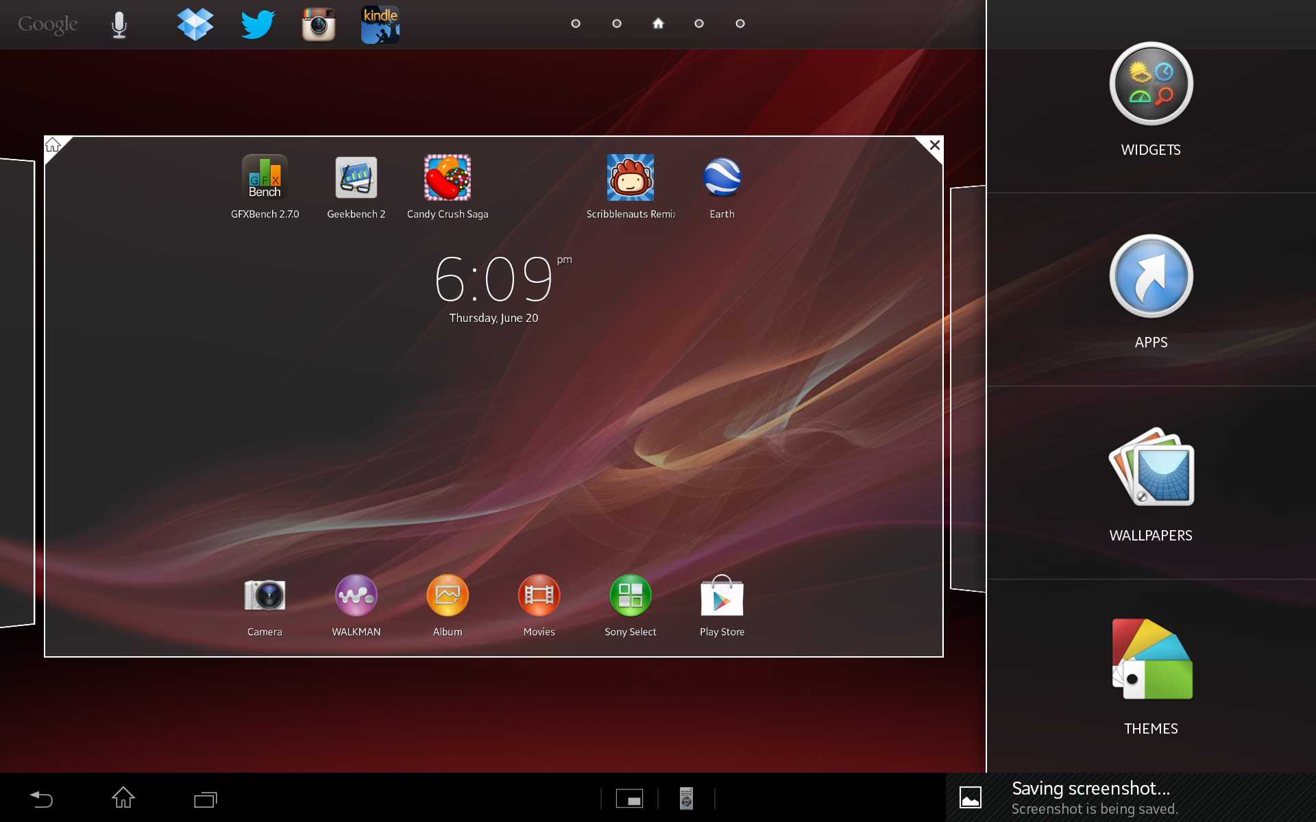 You can add apps, widgets, or whatever you choose to the home screen.