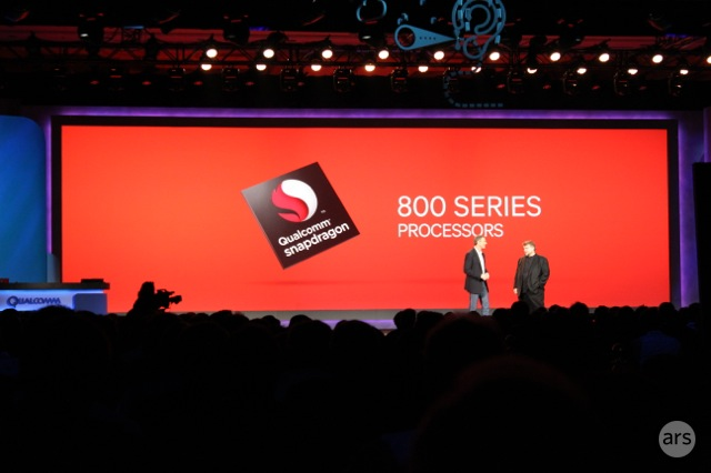 Qualcomm CEO Paul Jacobs talks up the 800 series chips at the company's CES keynote.