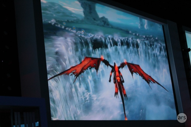 A shot of <em>Crimson Dragon</em> from yesterday's liveblog event.