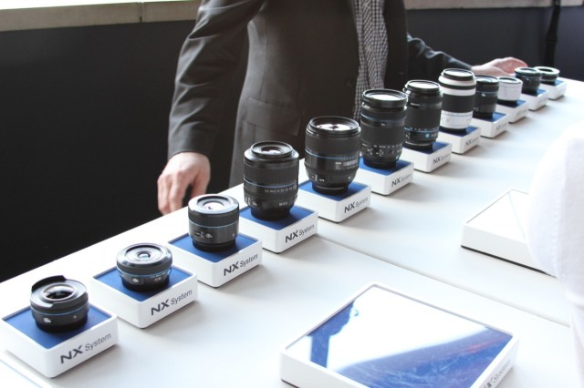 The Galaxy NX can share its 13 interchangeable lenses with other Samsung NX cameras.