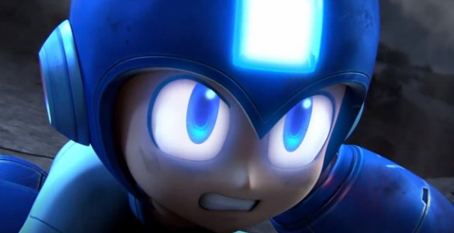 Mega Man is determined to make it into <i>Smash Bros.</i>, but he won't get there until next year.