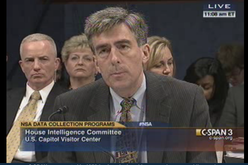John Inglis, deputy director of the National Security Agency, testified before Congress in June 2013.